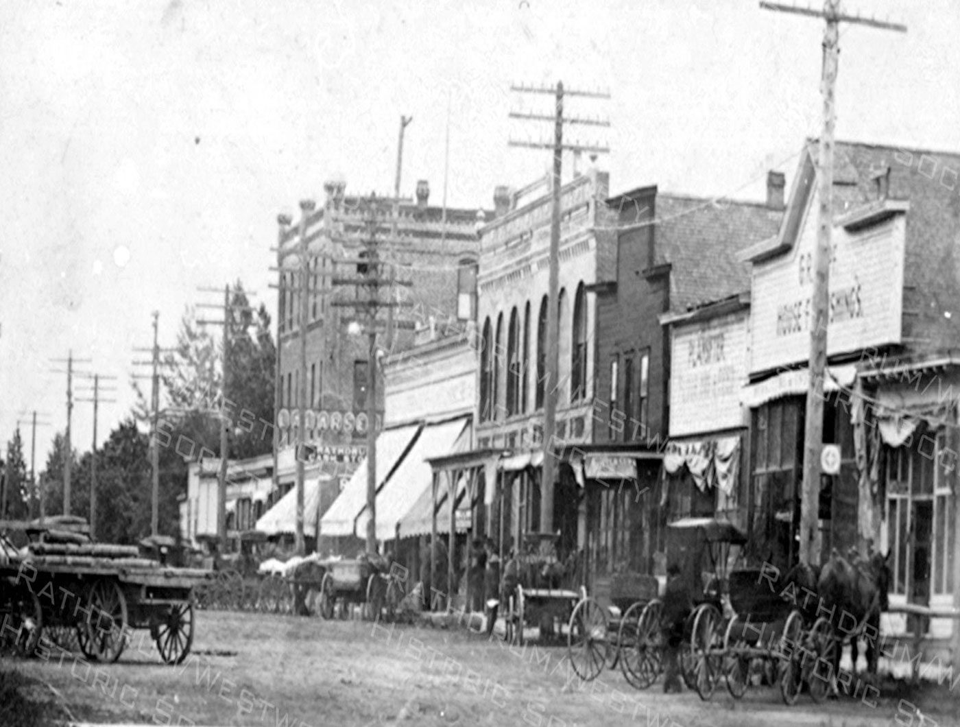 Rathdrum Main Street Early 1900s